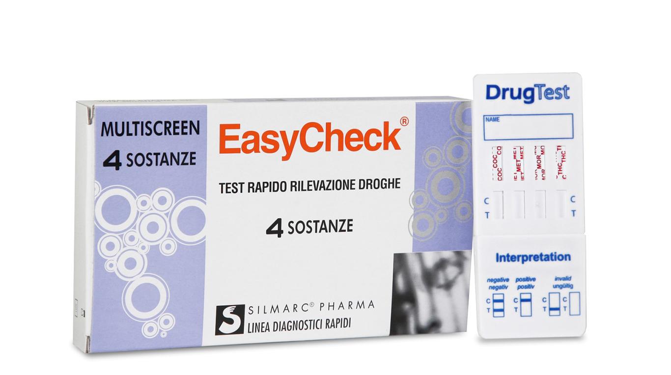 EasyCheck Test Rapido Rilevazione Droghe sulle Urine